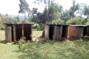 The Water Project: Muhudu Primary School -  Unusable Latrines
