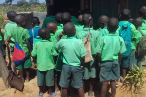 The Water Project: Emusoma Primary School -  Scramble For The Latrines