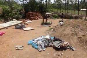 The Water Project: Shikoti Community, Amboka Spring -  No Clothesline