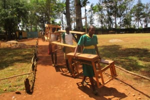 The Water Project: Mukhombe Primary School -  Moving From One Class To The Other