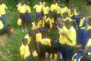 The Water Project: Emukhalari Primary School -  Waiting To Fill Their Containers