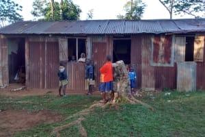 The Water Project: Iyenga Primary School -  Students Outside Classroom