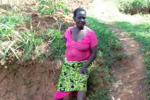 The Water Project: Igogwa Community -  Mrs Jane Igunza At The Spring