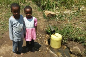 The Water Project: Handidi Community, Kadasia Spring -  Morgan And Marrion Are Twins And Beneficiaries Of The Spring