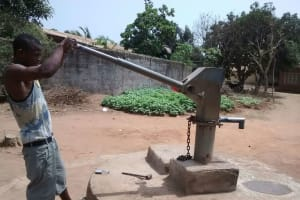 The Water Project: Benke Community, Turay Street -  Seasonal Well When It Is Difficult To Use