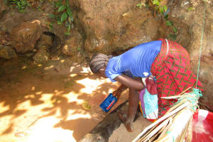 The Water Project: Kitonki Community -  Fetching Water