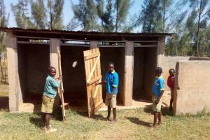 The Water Project: Ematsuli Primary School -  Boys Latrines