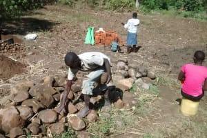 The Water Project: Emarembwa Community, Nyangweso Spring -  Materials For Construction