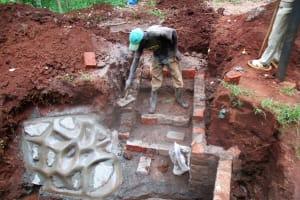 The Water Project: Kidinye Community, Wamwaka Spring -  Construction