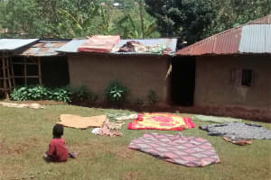 The Water Project: Shikhuyu Community -  No Clothesline
