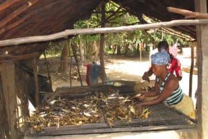 The Water Project: Mayaya Village A -  Drying Fish