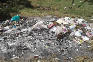 The Water Project: Bishop Sulumeti Girls Secondary School -  Garbage Site