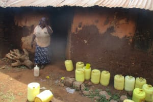 The Water Project: Esibuye Primary School -  Cook Having A Smoke Break