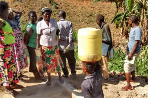 The Water Project: Mwinaya Community, Severe Spring -  Protected Spring