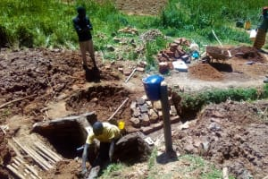 The Water Project: Bumavi Community, Shoso Mwoga Spring -  Construction
