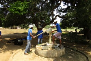 The Water Project: Tintafor, Officer's Quarters Community -  Drilling