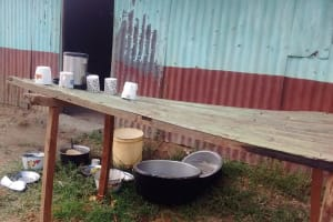 The Water Project: Eshisuru Primary School -  Dish Rack Behind Kitchen