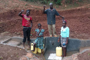 The Water Project: Shitaho Community, Andrea Kong'o Spring -  Protected Spring