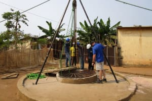 The Water Project: Tintafor, Police Barracks C-Line Community -  Construction