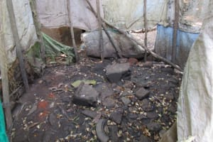 The Water Project: Benke Community, Brima Lane -  Inside Bathing Shelter