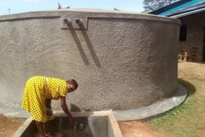 The Water Project: Bumira Secondary School -  Finished Tank