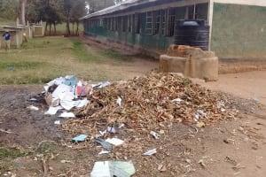 The Water Project: Eshisuru Primary School -  Garbage Pile