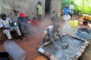 The Water Project: Kidinye Community, Wamwaka Spring -  Sanitation Platform