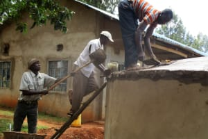 The Water Project: Bumuyange Secondary School -  Construction