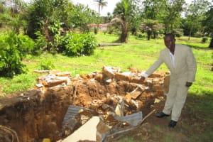 The Water Project: Kulufai Rashideen Secondary School -  Collapsed Latrine