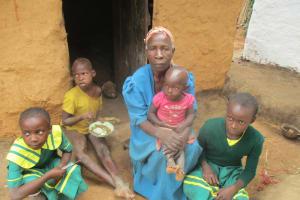 The Water Project: Lwangele Primary School -  Mrs Beatrice Lumadi With Her Grandchildren