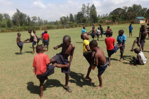 The Water Project: Bumini Primary School -  Students Attend Pe Class