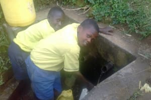 The Water Project: Emukhalari Primary School -  Filling Container