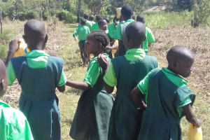 The Water Project: Emusoma Primary School -  Students Going To The Stream