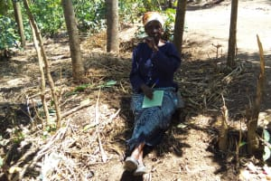The Water Project: Emarembwa Community, Nyangweso Spring -  Elderly Woman Attending Training