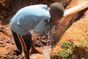 The Water Project: Shikhuyu Community -  Quenching His Thirst