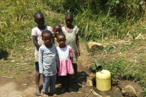 The Water Project: Handidi Community, Kadasia Spring -  Children Who Rely On The Spring