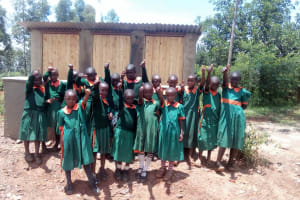 The Water Project: Kilingili Primary School -  Finished Latrines