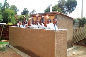 The Water Project: Matende Girls High School -  Finished Latrines