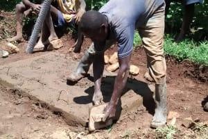 The Water Project: Eluhobe Community, Amadi Spring -  Sanitation Platform Construction
