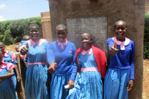 The Water Project: Virembe Primary School -  Finished Latrines