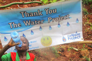 The Water Project: Kidinye Community, Wamwaka Spring -  Protected Spring