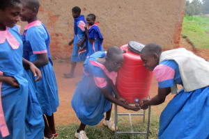 The Water Project: Virembe Primary School -  Hand Washing Station