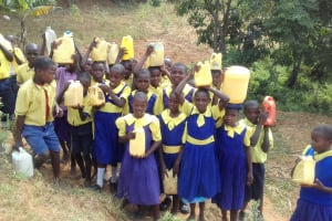 The Water Project: Emukhalari Primary School -  Filled Containers