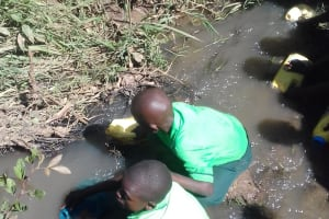 The Water Project: Emusoma Primary School -  Fetching Water