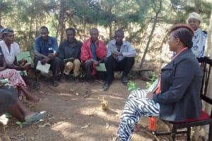 The Water Project: Mwinaya Community, Severe Spring -  Training