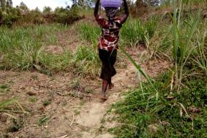 The Water Project: Bukhakunga Community, Indiatsi Omukitsa Spring -  Carrying Water
