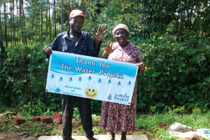 The Water Project: Eluhobe Community, Amadi Spring -  Finished Sanitation Platform