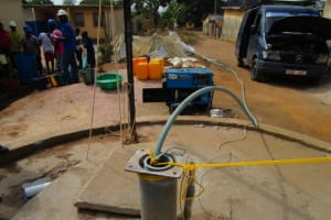 The Water Project: Tintafor, Police Barracks C-Line Community -  Yield Testing