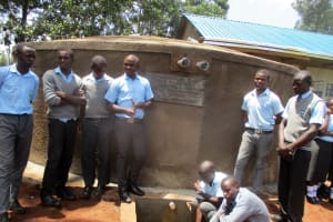 The Water Project: Bumuyange Secondary School -  Finished Tank