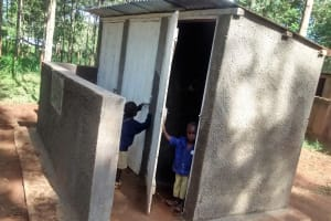 The Water Project: Emmabwi Primary School -  Finished Latrines